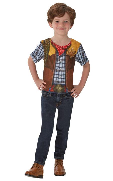 Cowboy Tshirt Boy's Fancy Dress Costume Thumbnail 1