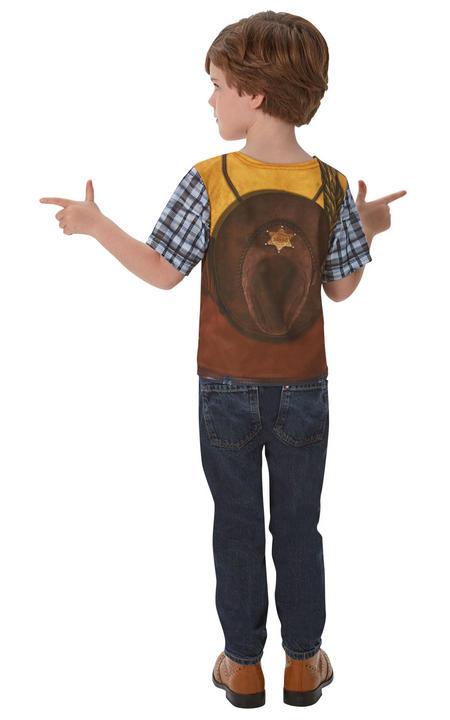 Cowboy Tshirt Boy's Fancy Dress Costume Thumbnail 2