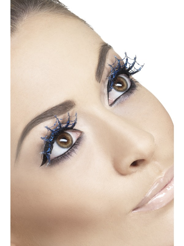 Eyelashes Spiderwebs with Glitter