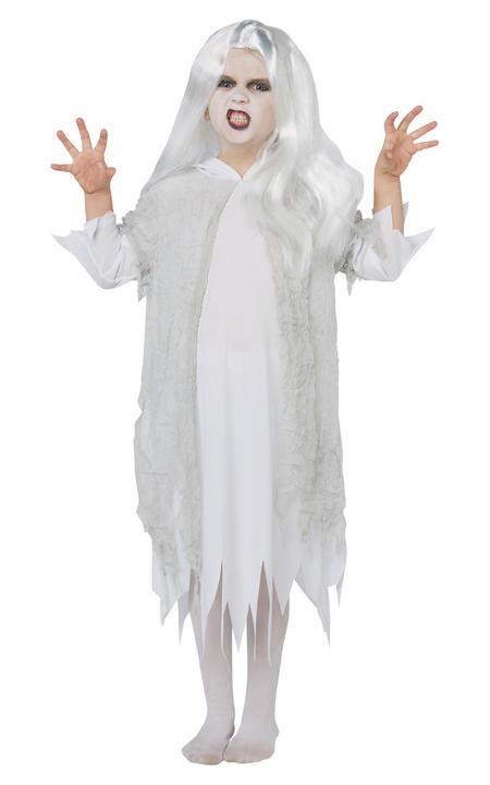 Ghostly Spirit Girl's Fancy Dress Costume Thumbnail 1