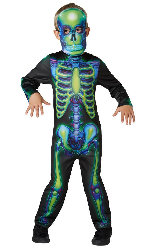 Neon Skeleton Boy's Fancy Dress