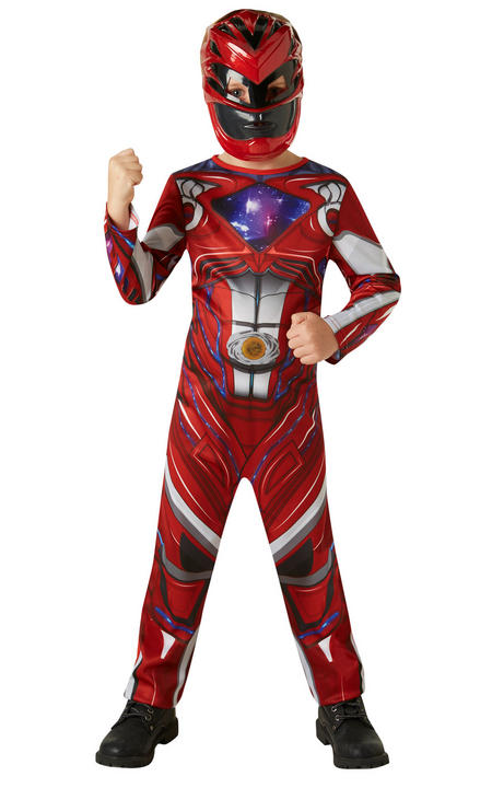 Power Ranger Red Ranger Movie Boy's Fancy Dress Costume Thumbnail 1