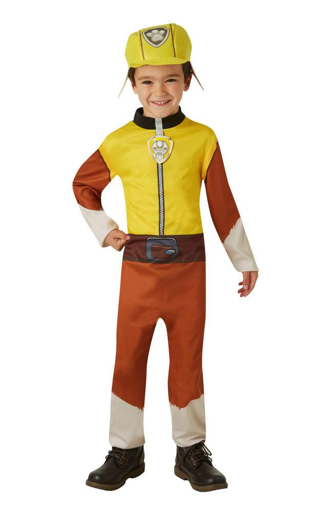 Rubble Paw Patrol Boys Fancy Dress Costume