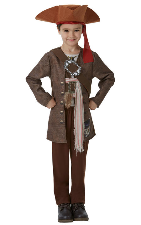 Jack Sparrow Deluxe Boy's Fancy Dress Costume Thumbnail 1