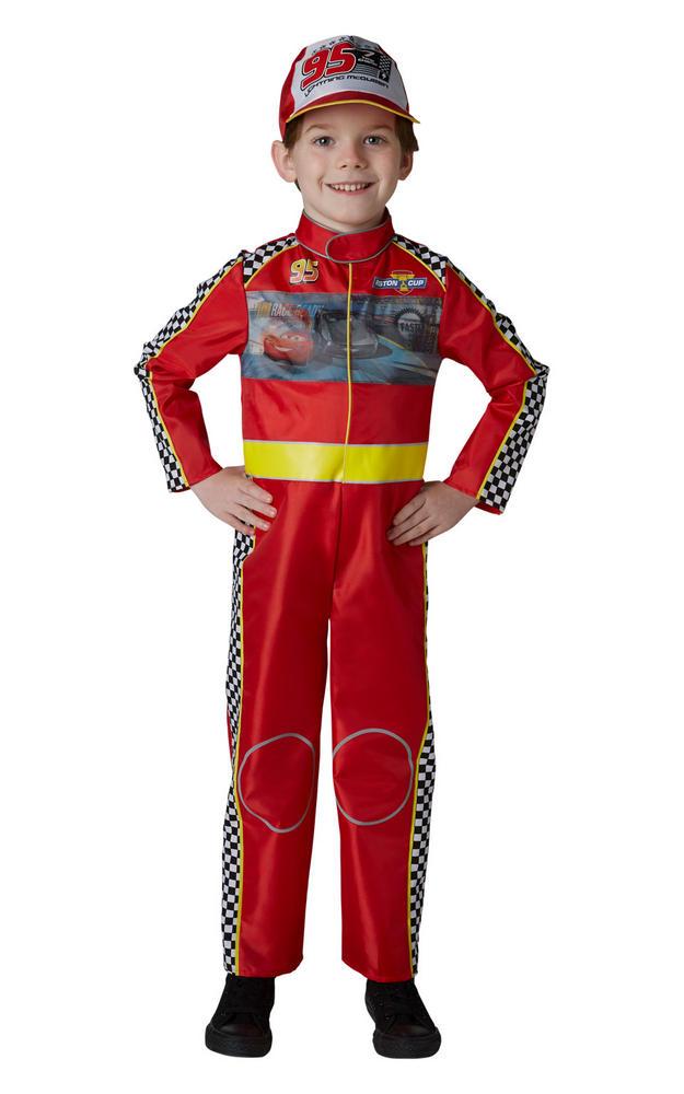 Racing Mcqueen Cars Boys Deluxe Fancy Dress Costume