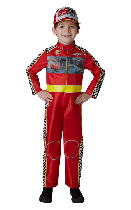 Racing Mcqueen Cars Boys Deluxe Fancy Dress Costume Thumbnail 1