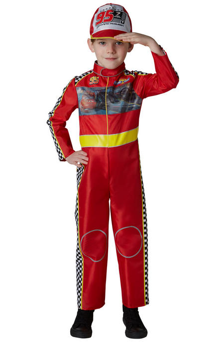 Racing Mcqueen Cars Boys Deluxe Fancy Dress Costume Thumbnail 2