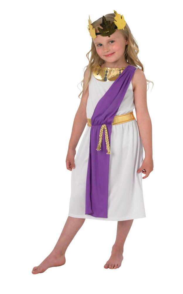 Girls Roman toga costume kids school book week fancy dress oufit story childs