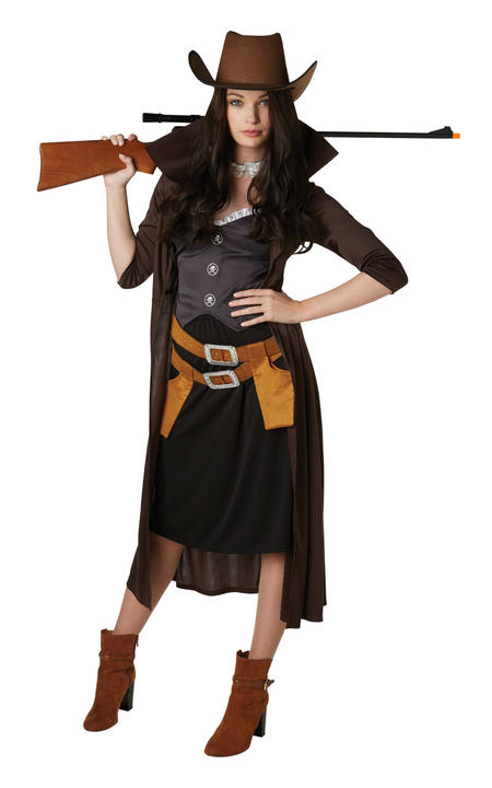 Gunslinger Women's Fancy Dress Costume Thumbnail 1