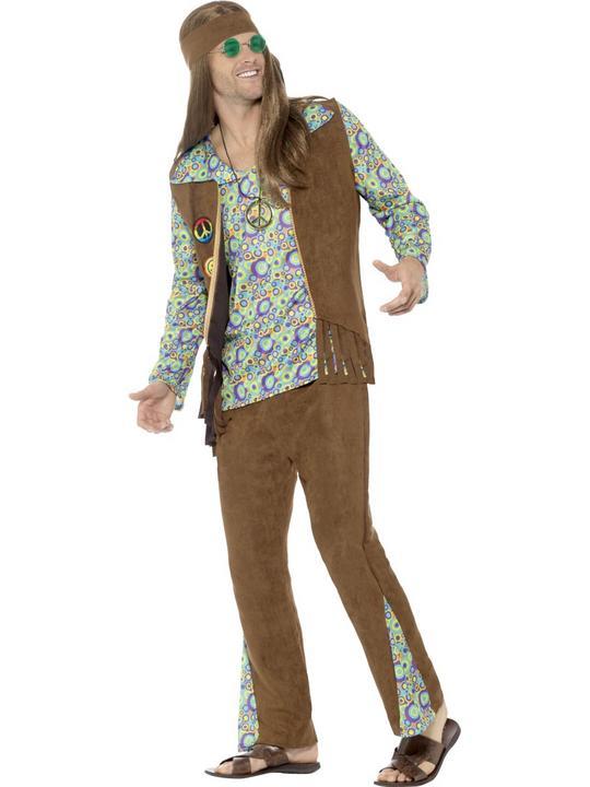 60's Hippie Men's Fancy Dress Costume  Thumbnail 3