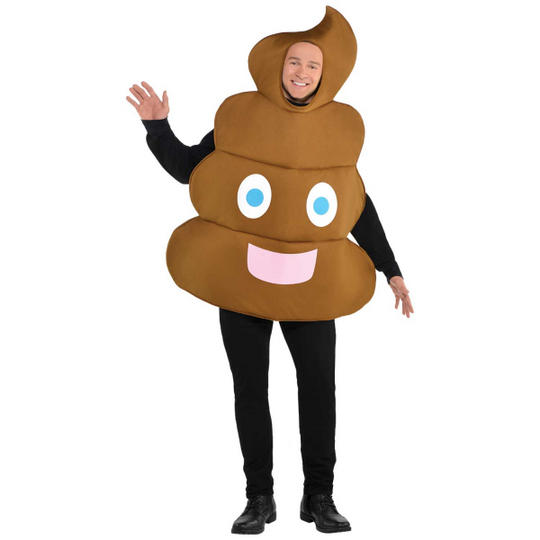 Emoji Pooper Men's Fancy Dress Costume Thumbnail 1