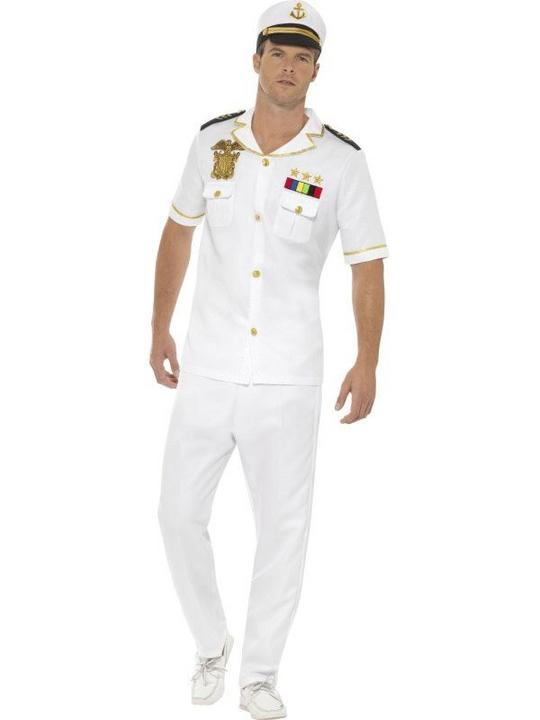 Captain Men's Fancy Dress Costume Thumbnail 1