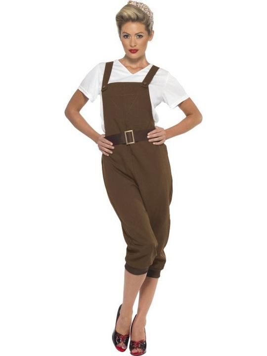 1930s-1940s Land Girl Women's Fancy Dress Costume Thumbnail 1