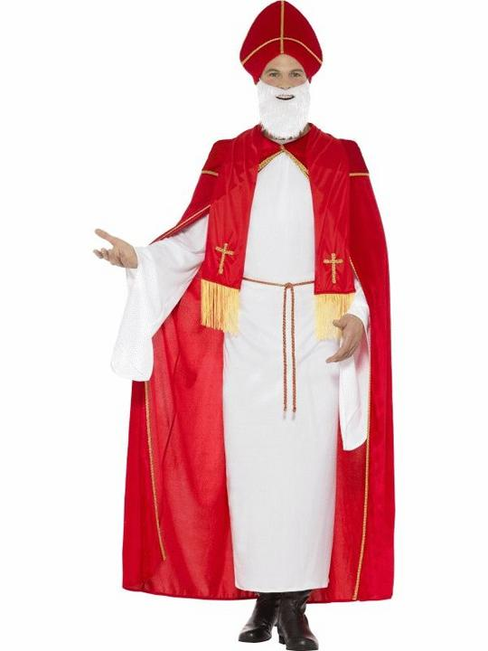 Deluxe Saint Nicholas Men's Fancy Dress Costume Thumbnail 1
