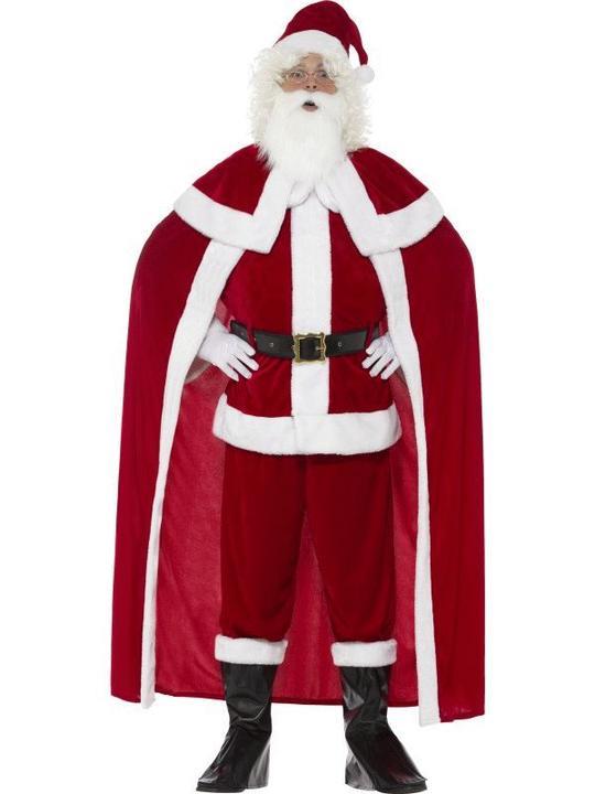 Deluxe Santa Claus Men's Fancy Dress Costume Thumbnail 1