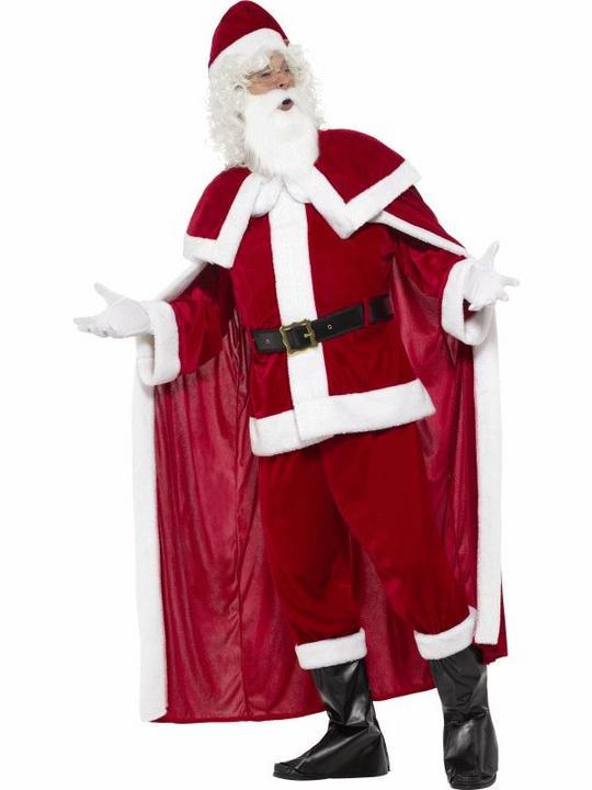 Deluxe Santa Claus Men's Fancy Dress Costume Thumbnail 3