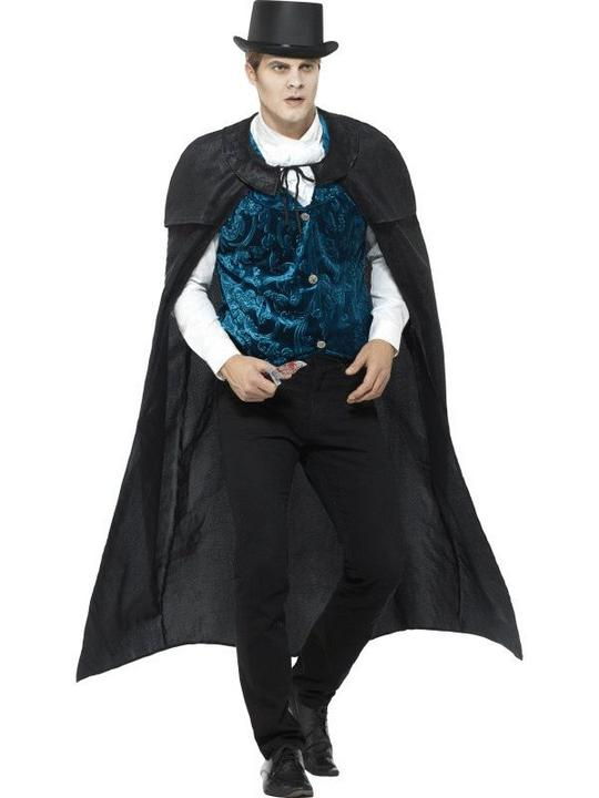 Deluxe Victorian Jack The Ripper Men's Fancy Dress Costume Thumbnail 1