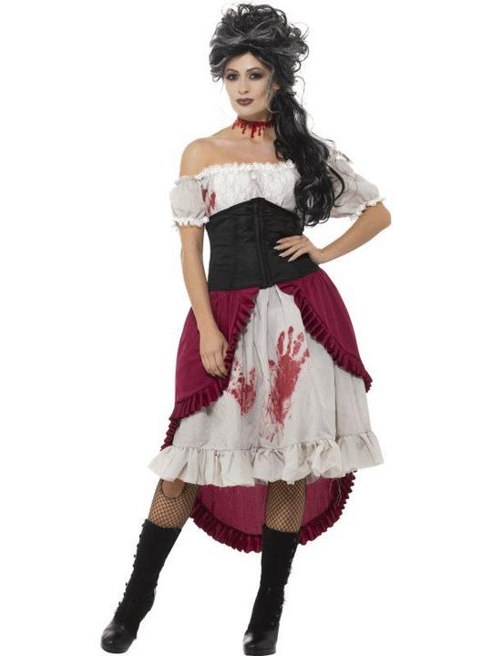 Victorian Slasher Victim Women's Fancy Dress Costume Thumbnail 1