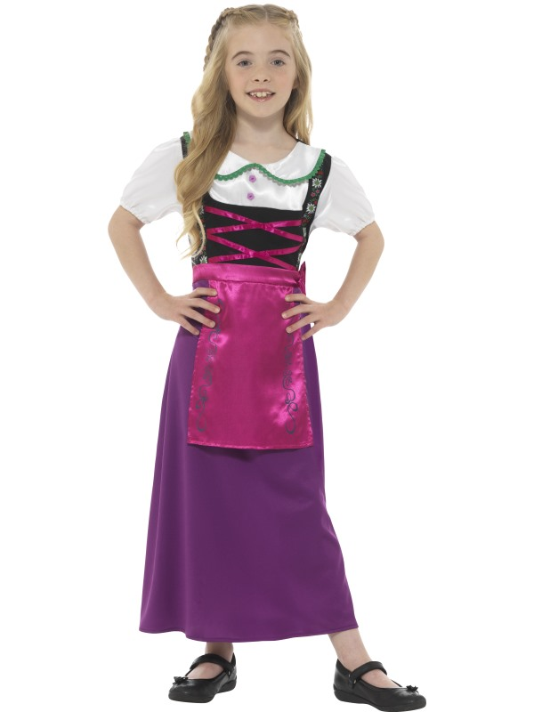 Bavarian Princess Girl's Fancy Dress Costume