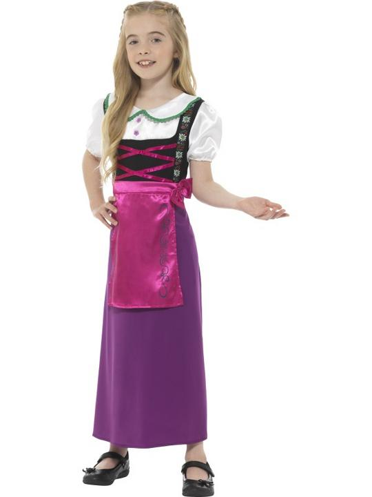 Bavarian Princess Girl's Fancy Dress Costume Thumbnail 2
