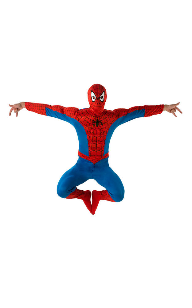 Spiderman Deluxe Men's Fancy Dress Costume