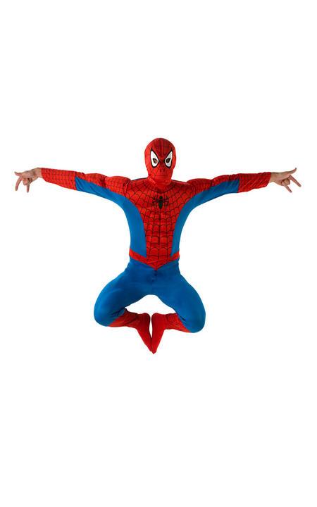 Spiderman Deluxe Men's Fancy Dress Costume Thumbnail 1