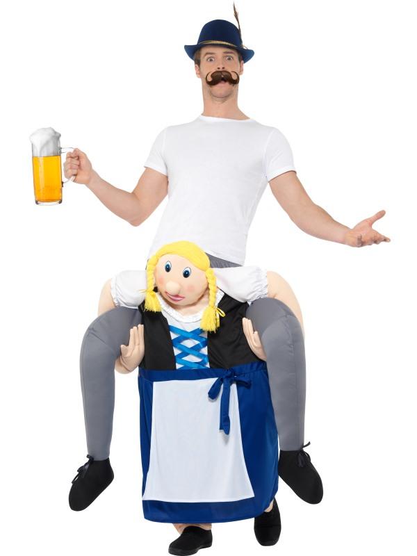 Piggyback Bavarian Beer Maiden Costume