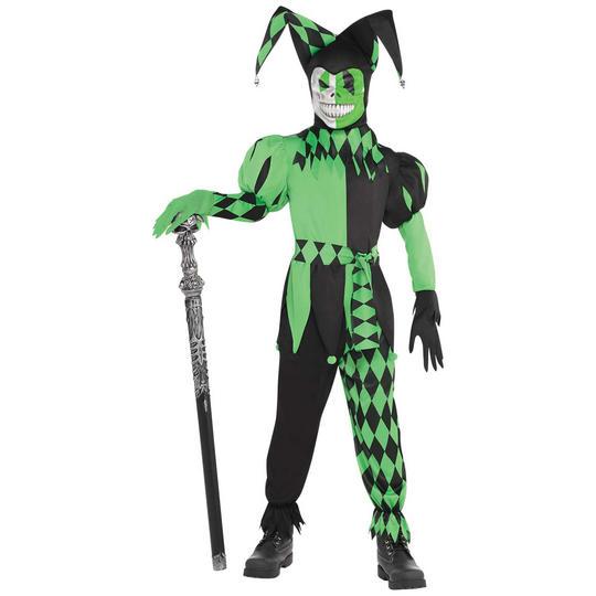 Wicked Jester Boy's Fancy Dress Costume Thumbnail 1