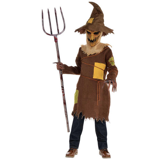 Scary Scarecrow Boy's Fancy Dress Costume Thumbnail 1