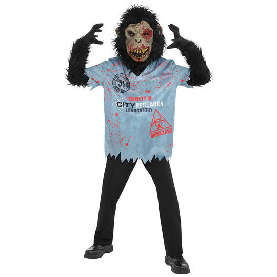 Chimp Zombie Boy's Fancy Dress Costume Thumbnail 1