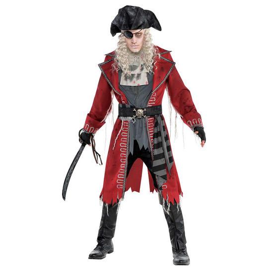Zombie Pirate Men's Fancy Dress Costume Thumbnail 1