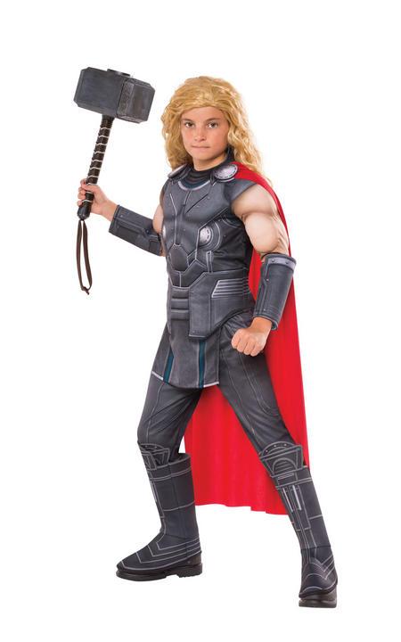 Thor Marvel Deluxe boy's Fancy Dress Costume Thumbnail 1