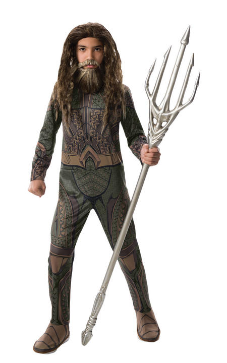 Aquaman Justic League Boy's Fancy Dress Costume Thumbnail 1
