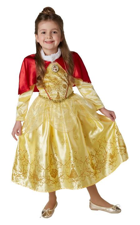 Belle Winter Disney Girl's Fancy Dress Costume Thumbnail 1