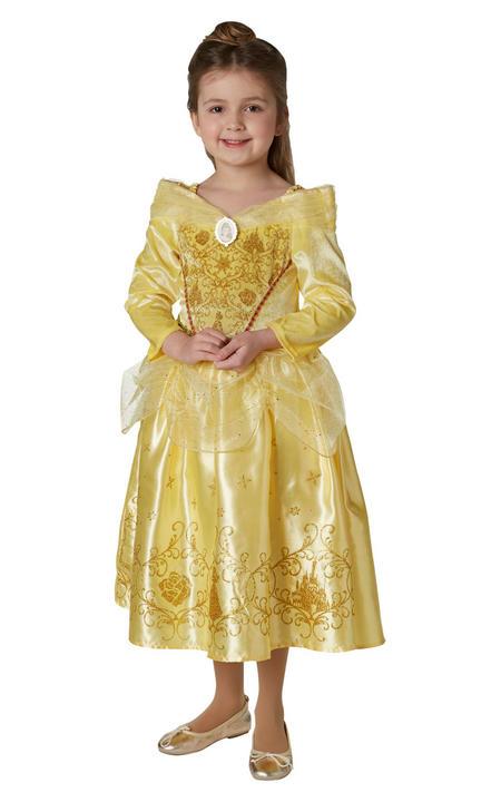 Belle Winter Disney Girl's Fancy Dress Costume Thumbnail 2