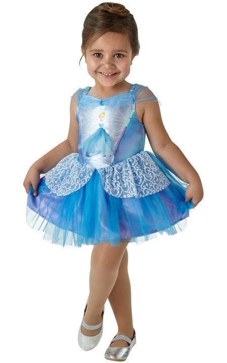 Cinderella Ballerina Disney Girl's Fancy Dress Costume Thumbnail 1