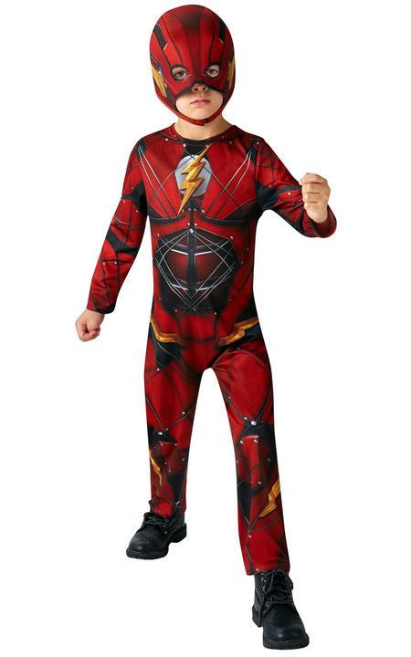 The Flash Justice League Boy's Fancy Dress Costume Thumbnail 1