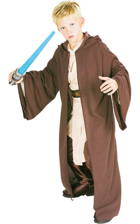 Jedi Robe / Cloak Deluxe Boy's Fancy Dress Thumbnail 1