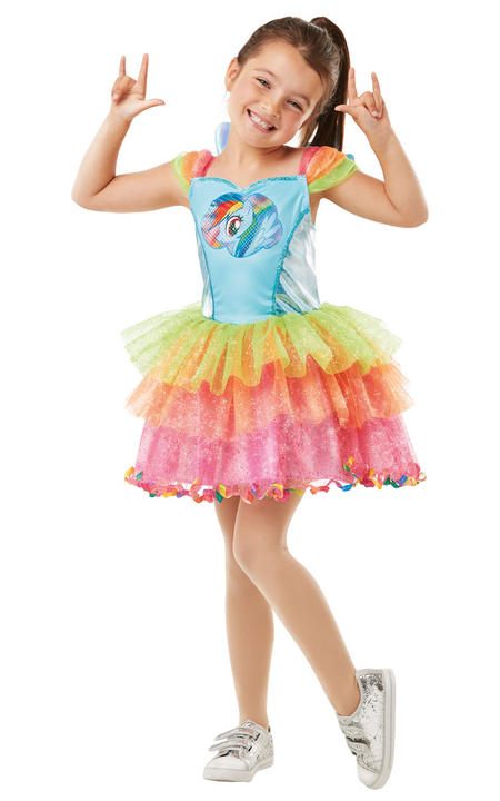 Rainbow Dash My little Pony Girl's Fancy Dress Costume Thumbnail 1