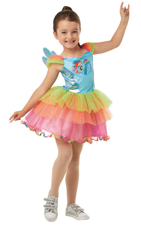 Rainbow Dash My little Pony Girl's Fancy Dress Costume Thumbnail 2