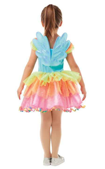 Rainbow Dash My little Pony Girl's Fancy Dress Costume Thumbnail 3