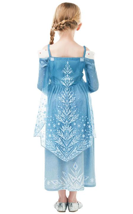 Elsa Frozen Adventures disney girl's Fancy Dress Costume Thumbnail 2