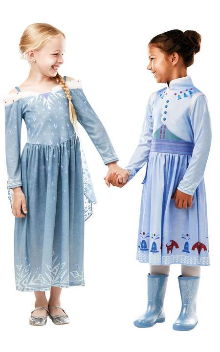 Elsa Frozen Adventures disney girl's Fancy Dress Costume Thumbnail 3
