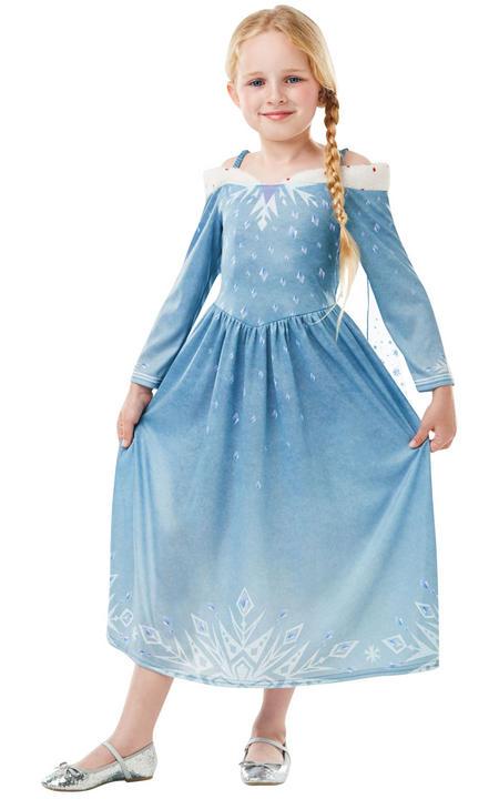 Elsa Frozen Adventures disney girl's Fancy Dress Costume Thumbnail 1