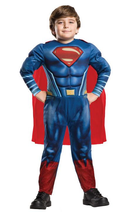 Superman Justice League Deluxe Boy's Fancy Dress Costume Thumbnail 1