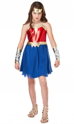 Wonder Woman Girls Fancy Dress Costume Thumbnail 1