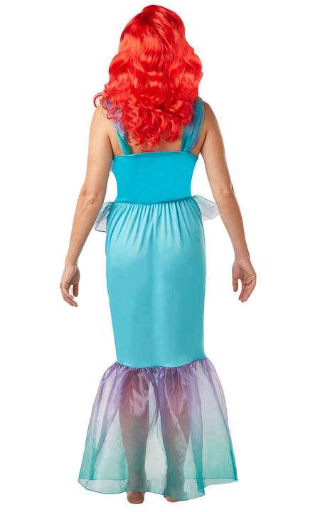 Ariel Mermaid Princess Womens Costume Disney Live Action Ladies Fancy Dress Outf Thumbnail 3