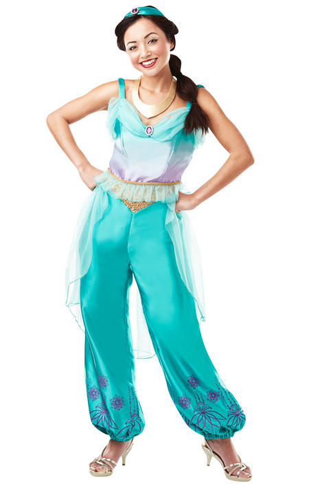 Jasmine Disney Women's Fancy Dress Costume Thumbnail 1