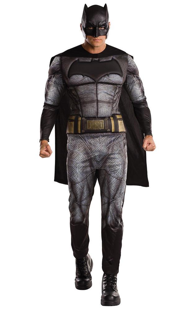 Adult Mens Justice League Batman Fancy Dress Costume