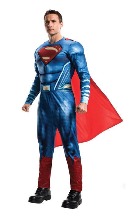 Adult Mens Justice League Superman Fancy Dress Costume Thumbnail 1
